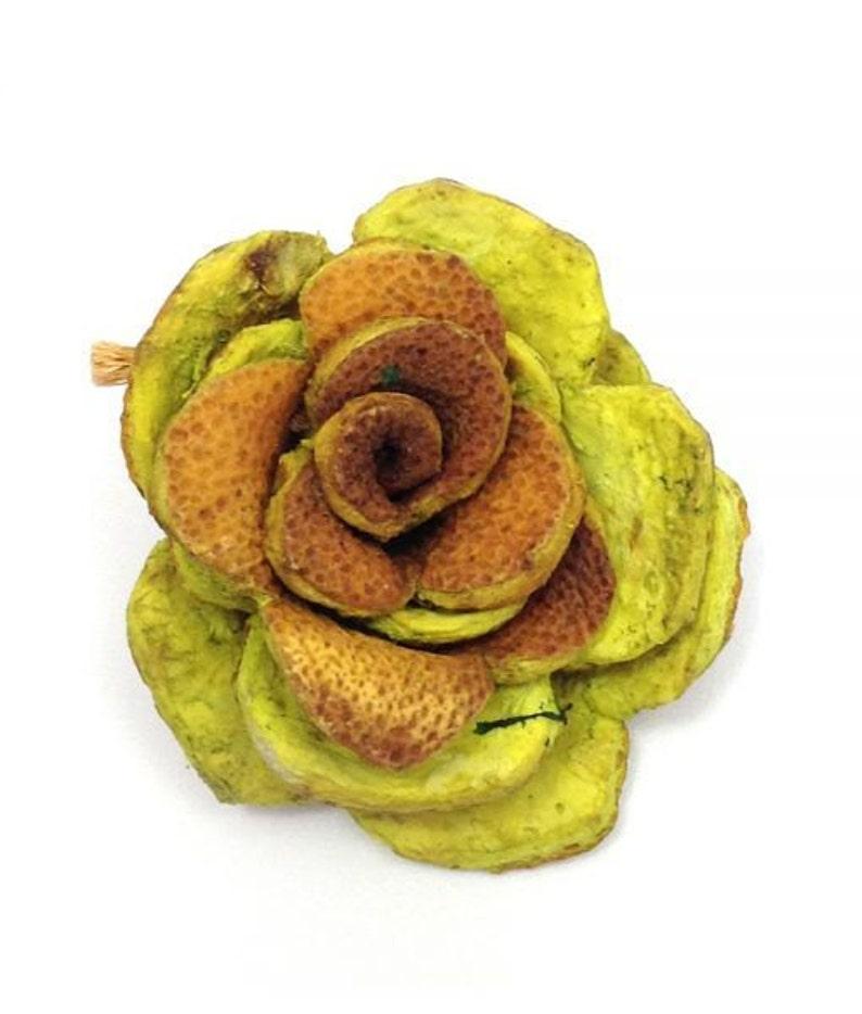orange peel natural bead pendant 1 piece 40 mm orange peel lemon 1 flower natural bead fashion jewelry