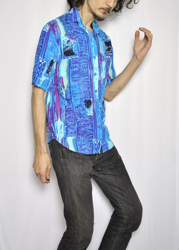 VINTAGE BOBBI BROOKS abstract psychedelic hawaiian