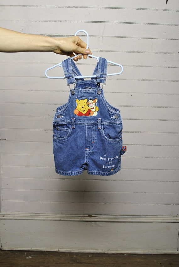 f1fe1c25e31 WINNIE THE POOH    18m embroidered overall jean shorts