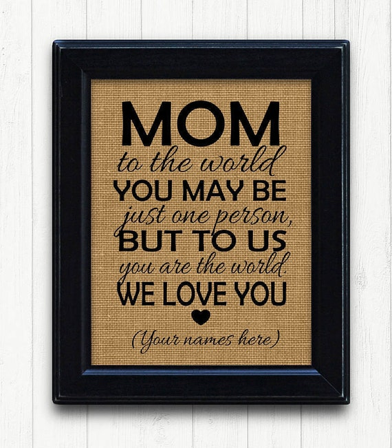 Mother Birthday From Family Gift Idea For MomMom