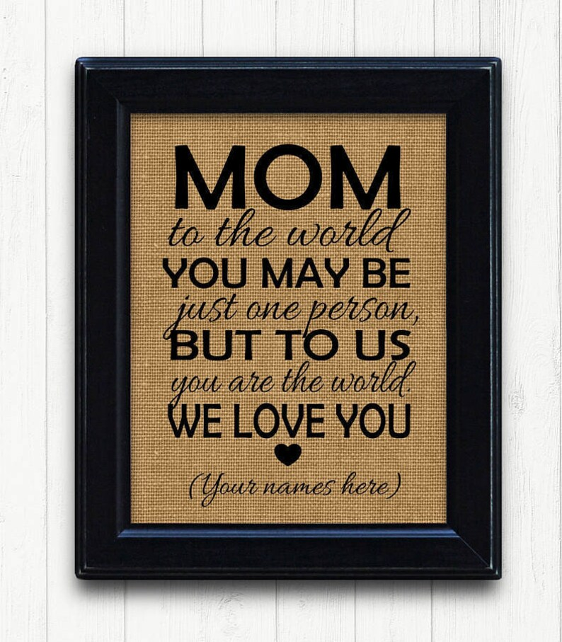 Mother Birthday From Family Gift Idea For MomMom Mothers Day Unique Mom Christmas