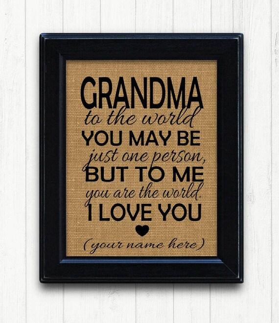Grandmother Gift Unique Idea Grandma Birthday
