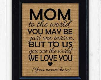 Gift for Mom, Best Mothers Day Gift, Mothers Day 2017, Best Mom Gift, I love you Mom. Mother Gift, Mom gift for Mothers Day, New Mom Gift