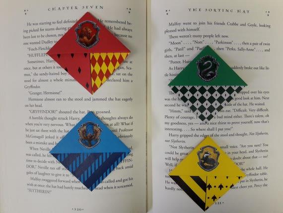 Origami Ecke Lesezeichen Inspiriert Von Harry Potter Hauser Etsy