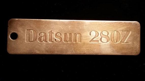 Brass 1970's Datsun 280Z key chain tag
