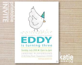 farm invitation - kids invitation  - chickens - printable invitation - chickens invitation - boys farm invite