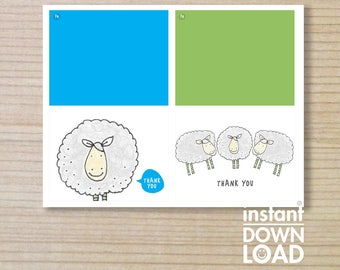 "Thank-you -  thank-you download - sheep thankyou - printable thankyou - downloadable - farmer thankyou -sheep - 5x4"""