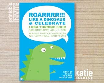 kids invitation - boys invitation  - Dinosaur invitation - Dinosaur - childrens invitation -  printable invitation - Roar!!