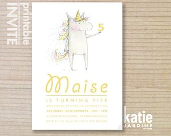 unicorn invite - kids invitation  - printable invitation - unicorn invitation - unicorn - girls invite - downloadable invite - unicorn party