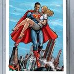 Fully customizable artwork, personalized superhero poster, anniversary gift for boyfriend girlfriend