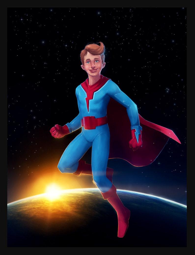 fa28d6d0feca7 Fully customizable strong superhero poster boy or girl kid