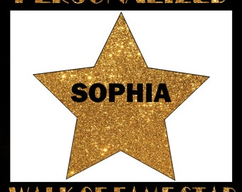 Printable Hollywood Party Birthday Decorations Personalized Walk Of Fame Star