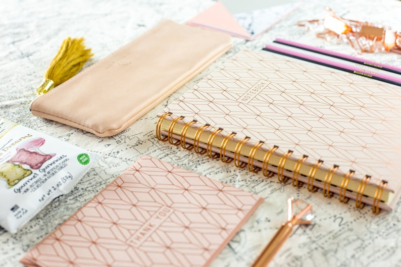 Rose Gold Gift Set Christmas Gifts Notebook Planner Clip image 0