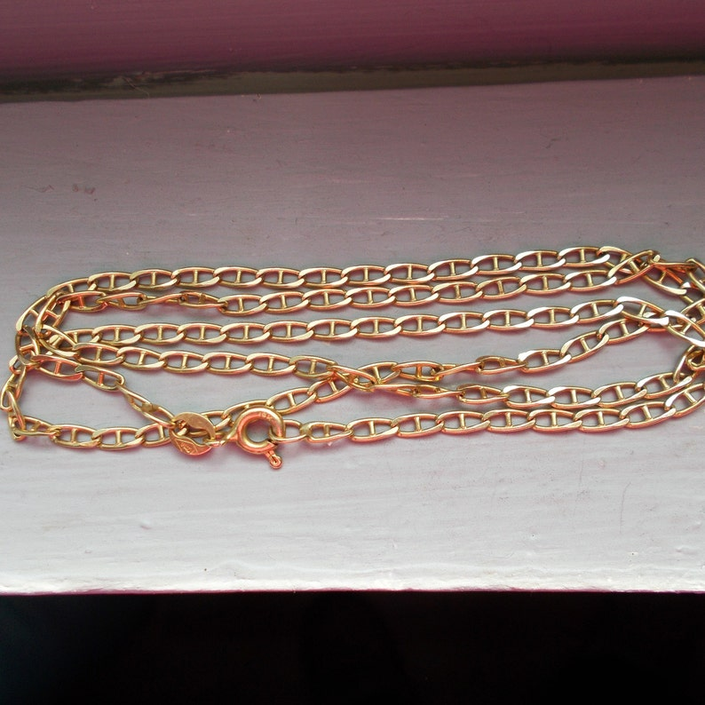 c1358861c Solid 14K yellow gold Gucci chain 18 3/4 inches   Etsy