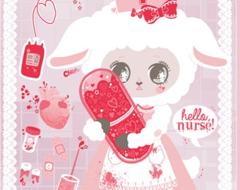 Little Lamby Nurse Postcard