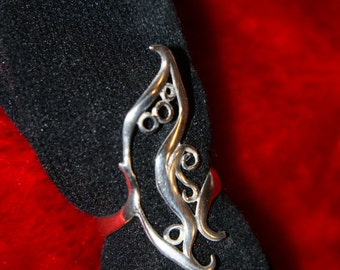 Custom Made Sterling Silver Faerie or Butterfly Wing Ring.