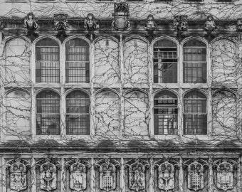 Chicago Photography- University of Chicago, Architecture Print, Fine Art Photography, Black & White Photo