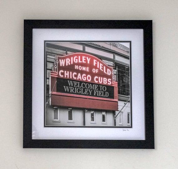 Frame 18x18 With Double Mat And Print Wrigley Field Etsy