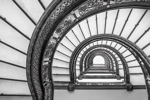 Chicago The Rookery Oriel Staircase Spiral Staircase Frank