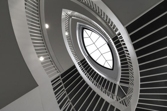 Abstract Photography Spiral Staircase Chicago Contemporary