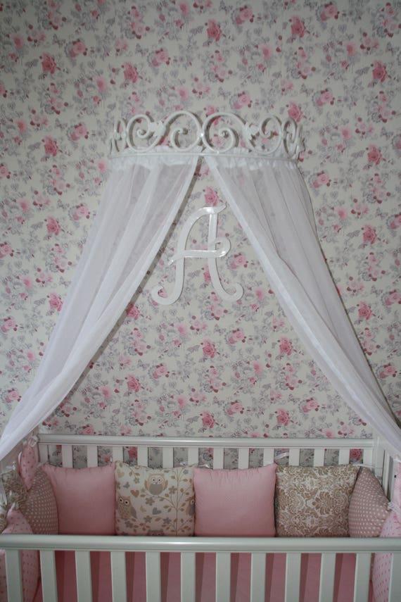Corona titular cama dosel pared Hardware cortina forjado Metal