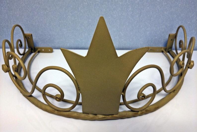 Gouden kroon canopy bed frame hardware kroon metaal gordijnen etsy