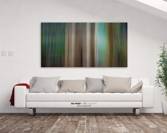 """Abstract Wall Art • Fine Art Photo Print • Canvas Wrap • Abstract Photography • Stripes Bands Teal Aqua Turquoise Green • """"Abstract 96"""""""