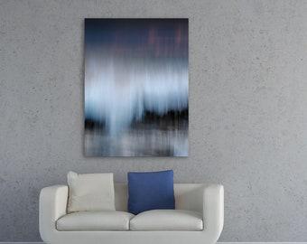 "Abstract Wall Art • Fine Art Photo Print • Canvas Wrap • Abstract Photography • Vertical 12x16 9x12 Black Blue Indigo Gray • ""Abstract 84"""