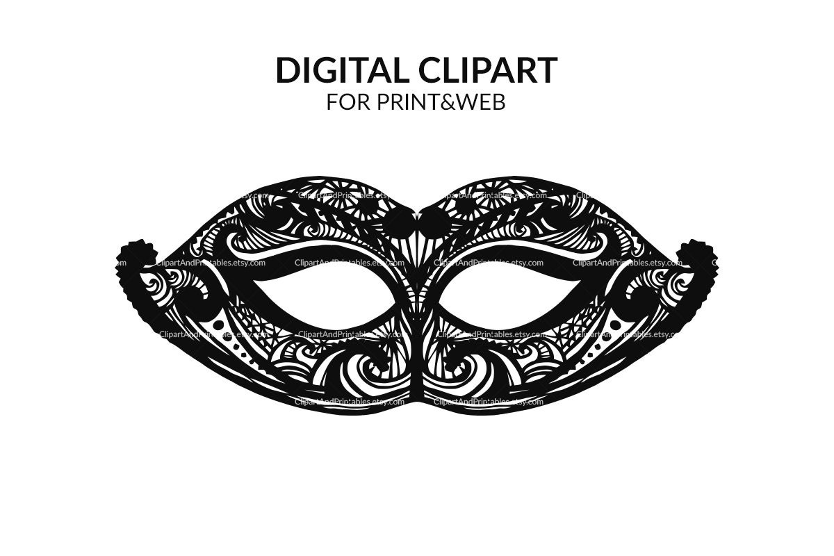Lively image in printable masquerade masks