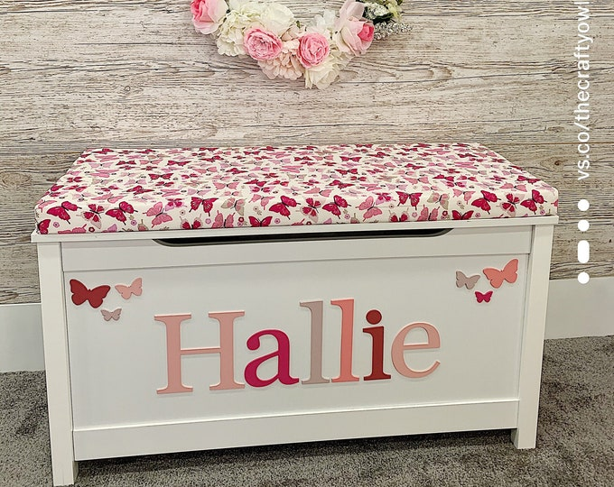 Personalised toy box Butterfly Style