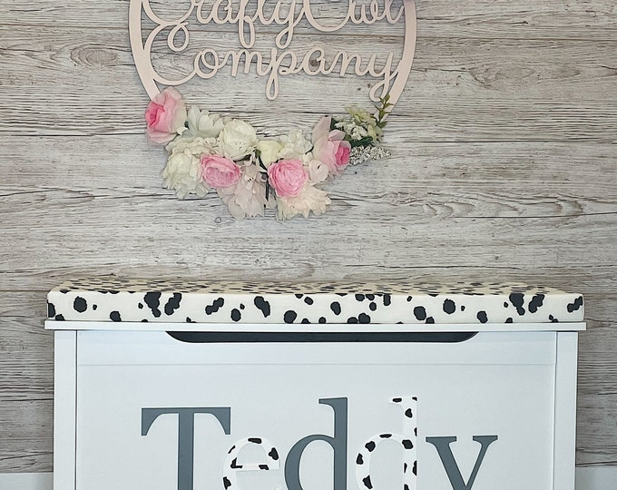 Personalised spotty toy box