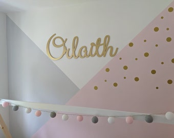 Personalised XL wooden wall sign MAX 8 letters