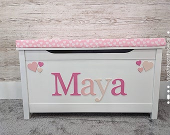 Personalised toy box Heart Style