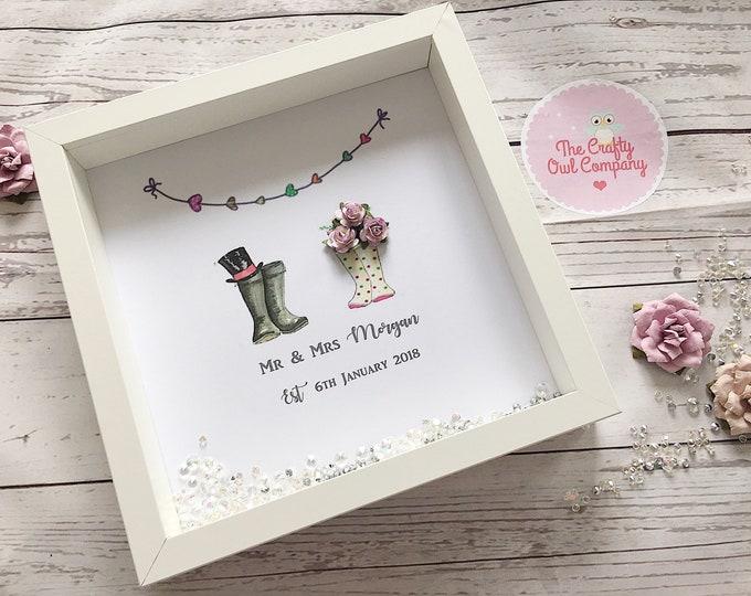 Wedding day personalised frame