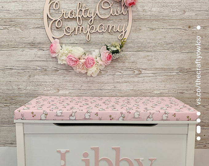 Personalised toy box Bunny style