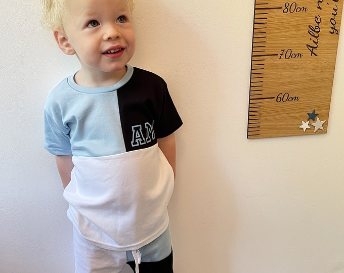 Personalised Kids T-shirt and short set