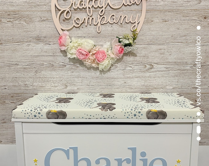 Personalised Prince Elephant toy box