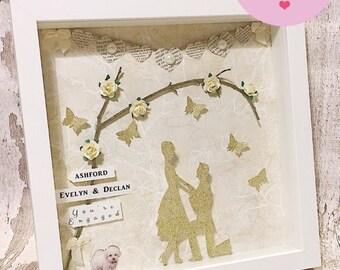 Personalised engagement framed gift