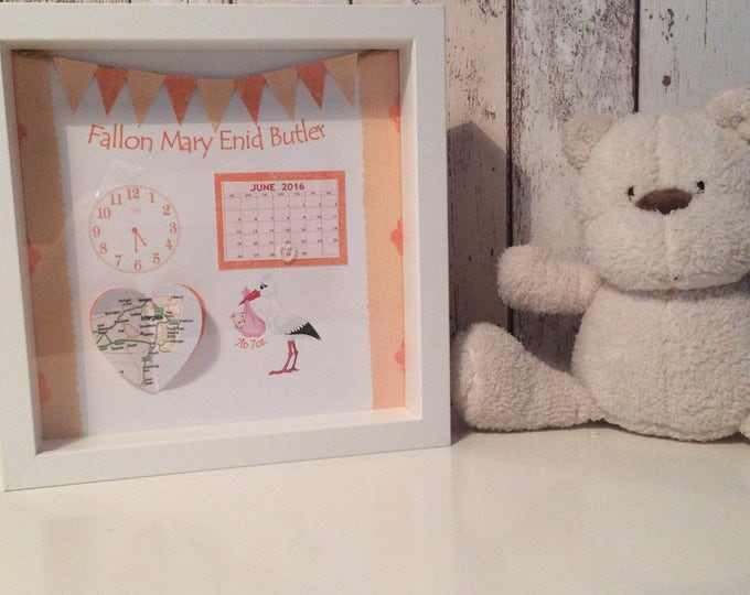 New baby gift with time date & location