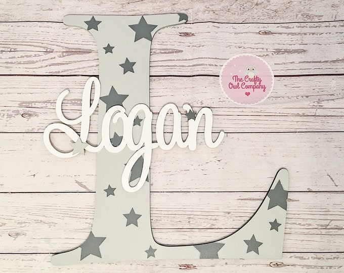Personalised large boys door sign - wall sign - nursery sign