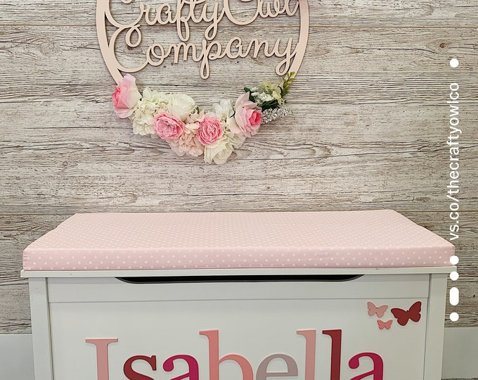 Personalised toy box Spotty Style