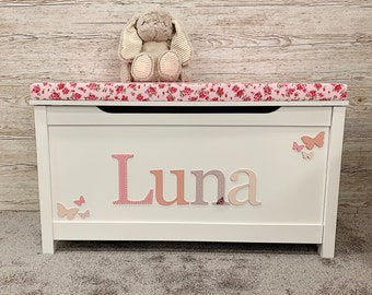 Personalised toy box Floral Style