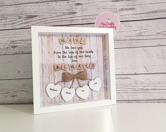 Mothers day - birthday and anniversary -personalised gift