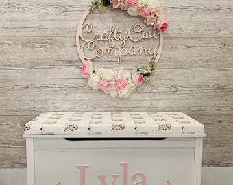 Swan theme Personalised toy box
