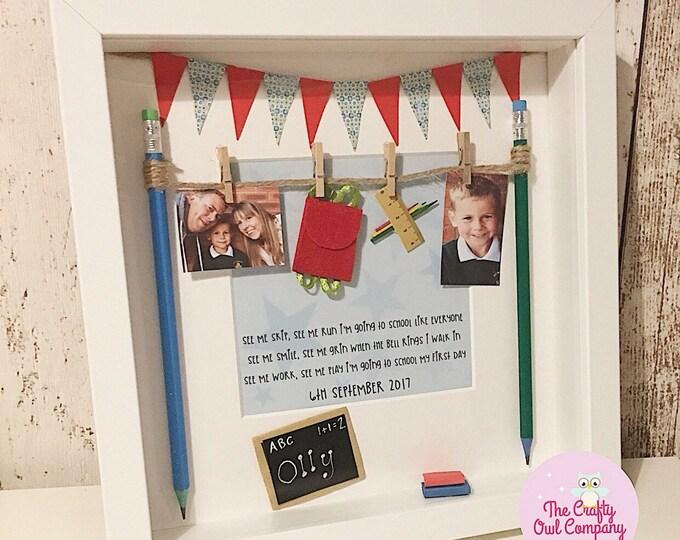 1st day of school framed keepsake gift