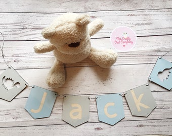 personalised wooden bunting PRICE PER FLAG