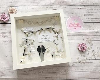 Wedding day keepsake gift frame