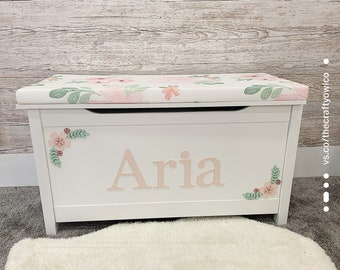 Personalised Floral toy box