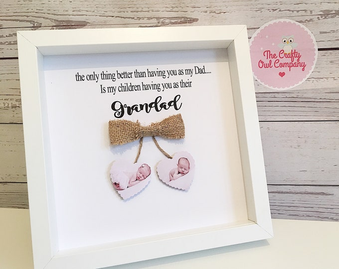 Personalised Dad picture frame- Happy Father's Day- happy first Father's Day grandad- Father's Day gift for grandad