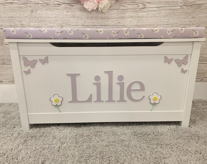 Personalised Daisy toy box